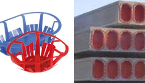 Tapas de placas alveolares para estructuras más ligeras